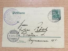 K6 Deutsches Reich Ganzsache Stationery Entier Postal P 73 Von Altenberg Nach Dresden - Ganzsachen