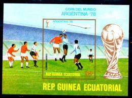 GUINEE EQUATORIALE  BF * *  NON DENTELE  Cup 1978   Football  Fussball Soccer  Concorde Coupe Avion - 1978 – Argentina