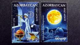 Aserbaidschan758/9 A **/mnh, EUROPA/CEPT 2009, Astronomie - Azerbeidzjan