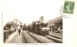 Cp 43 Riotord - La Gare - France