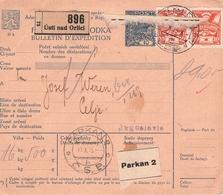 CZECHOSLOVAKIA - BULLETIN D'EXPEDITION 1925 USTI -> CELJE/JUGOSLAVIA - Briefe U. Dokumente