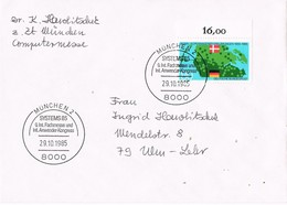 29768. Carta MUNCHEN (Alemania Federal) 1985. Fachmesse Int Anwender Kongress SYSTEMS - [7] República Federal