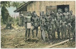 SALOMON - Natives, Graciosa Bay, Santa Cruz - Carte En L'état - Solomon Islands