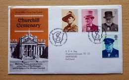 GB QEII 1974 Churchill Centenary Illustrated FDC, Issued BLENHEIM PALACE Woodstock To CHURCHILLLAAN Amsterdam. - Sir Winston Churchill