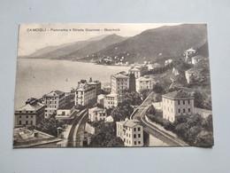 CARTOLINA CAMOGLI - PANORAMA E STRADA STAZIONE, BOSCHETTI - Genova (Genoa)