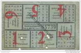 Fahrschein - Strausberg - Strausberger Eisenbahn Aktiengesellschaft - Sammelkarte Preis 1,50 RM Zone IV - Strassenbahnen
