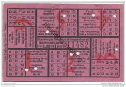Fahrschein - Strausberg - Strausberger Eisenbahn Aktiengesellschaft - Fahrschein Sammelkarte Preis 1,20 RM Zone III - Strassenbahnen