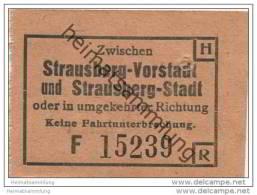 Fahrschein Zwischen Strausberg-Stadt Und Strausberg-Vorstadt - Strassenbahnen