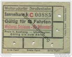 Fahrschein - Woltersdorf - Woltersdorfer Strassenbahn - Sammelkarte - Fahrkarte Gültig Für 5 Fahrten - Strassenbahnen