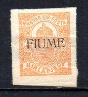 ITALIA FIUME 0CC 1918 MINT MH At - Fiume