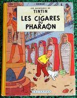 """ALBUM :  LES AVENTURES DE TINTIN """" LES CIGARES DU PHARAON """" Edit. 3° TR. 1955 B14 (1ere EdItion En Couleurs) - Hergé"""