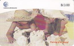 TARJETA DE PANAMA DE CABLE & WIRELESS DE B/3.00 NIÑOS EN LA PLAYA - Panama