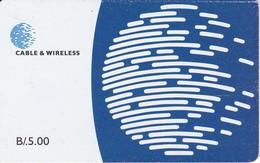 TARJETA DE PANAMA DE CABLE & WIRELESS DE B/.5.00 - Panamá