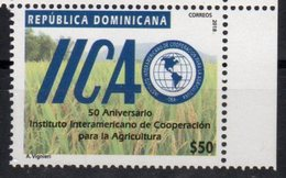 DOMINICAN REPUBLIC, 2018, MNH, AGRICULTURE, IICA, INTERAMERICAN INSTITUTE OF AGRICULTURE COOPERATION, 1v - Agriculture