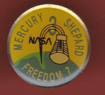 53516-  Pin's-Nasa.Espace.fusée.mercury Shepard.freedom 7.. - Space