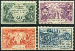 Soudan (1931) N 89 à 92 * (charniere) - Soudan (1894-1902)