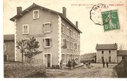 Cp 43 Montfaucon Du Velay - La Gare - Hotel Liogier - Cure D Air - Montfaucon En Velay