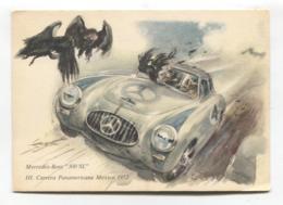 Mercedes-Benz 300 SL Sports Car, Carrera Panamericana Mexico 1952 - Modern-size Postcard - Passenger Cars