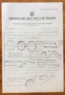 BORGO PANIGALE BOLOGNA  IMPRONTE DEGLI ANNULLI ESISTENTI IN QUELL'UFFICIO SU MOD.116 EDIZ. 1938 - XI - Marcophilia