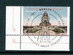 GERMANY Mi.Nr. 3033 100 Jahre Völkerschlachtdenkmal, Leipzig - ESST Berlin - Eckrand Unten Links - Used - Gebraucht