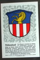 LITHO Gemeindewappen Aus Den 1930er-Jahren > Dübendorf < (Blanko-Karte Serie 1 Nr. 4 Der Antiquarischen Gesellschaft ZH) - ZH Zurich