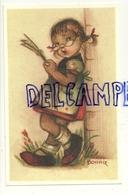 Petite Fille Qui Lit Le Journal, Lunettes. Signée Bonnie.  Coloprint Bonnie 8595 P - Illustrateurs & Photographes