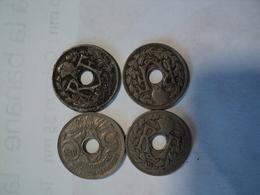 LOT DE 4 PIECES DE 5 CENTIMES LINDAUER DIFFERENTES. 1924 / 1936 - C. 5 Centimes