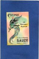 Carte Parfumée Parfum Sauzé 8,2 X 5,6 Publicité Publicitaire Sucy En Brie - Parfumkaarten