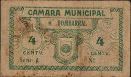 CÉDULA VALE DE 4 CENTAVOS - SÉRIE A - CÂMARA MUNICIPAL BOMBARRAL - Portugal