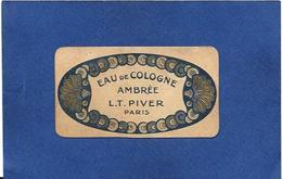 Carte Parfumée Parfum Publicité Publicitaire LT PIVER Ambrée Calendrier 1921 1922  8,7 X 4,8 - Cartes Parfumées