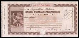 Buono Postale Fruttifero 1979 - Lire 1.000.000 (Iglesias / Succursale 1) - Azioni & Titoli