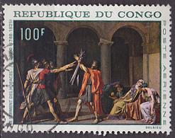 Timbre PA Oblitéré N° 65(Yvert) Congo 1968 - Tableau De J.L. David - Congo - Brazzaville