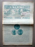 Valanga Tomba Alpini 21 Morti VII Campionato Sci Asiago L'Alpino Roma 15/2/1931 - Zonder Classificatie