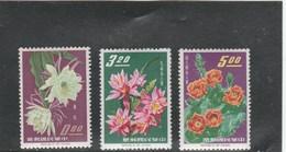 TAIWAN - FLOWER YT 455 + 457 +458 - MI 609 +611 + 612 NEUF ** - MNH - - 1945-... République De Chine