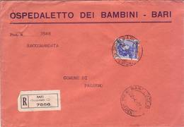Michelangiolesca  Busta Ospedaletto Dei Bambini - Bari  Affrancata  Lire 115 - 1946-.. République