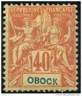Obock (1892) N 41 * (charniere) - Unused Stamps