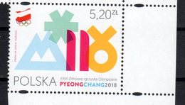POLAND, 2018, MNH, WINTER OLYMPICS, PYEONGCHANG, 1v - Winter 2018: Pyeongchang