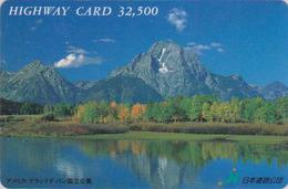 Carte Prépayée Japon - USA - GRAND TETON NATIONAL PARK WYOMING - Japan Prepaid Card - Site HW 143 - Landscapes