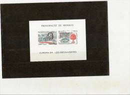 MONACO - Yvert Bloc Spécial N° 23a Neuf ** - EUROPA 1994cote 230 Prix 40 - Blocks & Kleinbögen