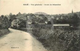 /! 7607 - CPA/CPSM  :  61 -  Gacé : Route De Rézenlieu - Gace
