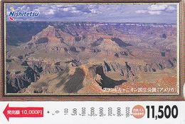 Carte Prépayée Japon - USA - COLORADO GRAND CANYON ARIZONA - Japan Prepaid Bus Card - Site 144 - Landscapes