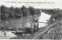 CPA  Tonkin Sontay Noria élevant L'eau Pour L'arrosage Des Rizières Près De Tong - Vietnam