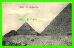 CAIRO, EGYPTE - THE THREE PYRAMIDS - 3/4 BACK - PAPETERIE AU CARTOSPORT - - Le Caire
