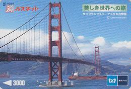 Carte Prépayée Japon - PONT USA / San Francisco Golden Gate Bridge Japan Prepaid Subway Card - Brücke Karte - 146 - Landscapes