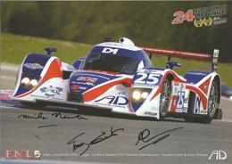 Carte TEAM RML ( LOLA B08/80 HPD COUPE ) Dédicacée Par Les Pilotes - Le Mans Series 2010 - Authographs