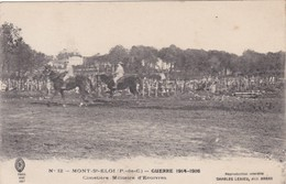D105 MONT ST ELOI - PAS DE CALAIS - GUERRE 1914-1916 CIMETIERE MILITAIRE D'ECOIVRES - Cimetières Militaires
