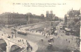 (75) Paris - Paris - Quai St-Michel, La Préfecture De Police Et Notre-Dame - El Sena Y Sus Bordes