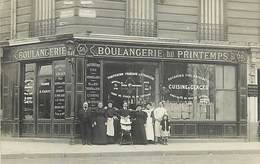 D-18-1825 : PARIS. CARTE-PHOTO. CAZET. DELPUECH . BOULANGER. BOULANGERIE. SUCCESSEUR DE BENARD. 30 RUE DU PRINTEMPS - France