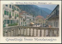 °°° GF529 - GREETINGS FROM MONTENEGRO - With Stamps °°° - Montenegro