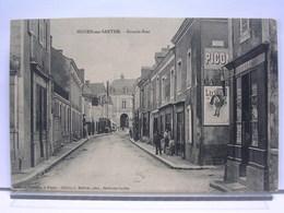 72 - NOYEN - GRANDE RUE - ANIMEE - COMMERCES - TABAC - PUBLICITES LU (LEFEVRE-UTILE) / PICON - TRES BEL ETAT - France